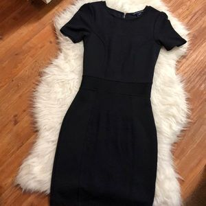 French Connection Navy Blue Body con Dress 4